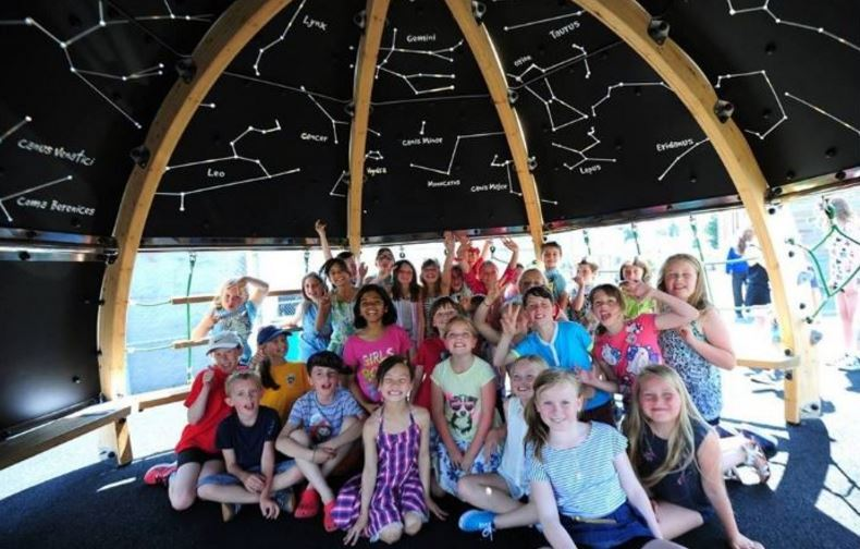 Outdoor classroom and planetarium